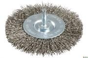 Круглая щетка 100x0,3 мм/ 6мм, высокосортная сталь, рифленая, Metabo, 630551000